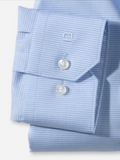 Olymp Light Blue Houndstooth Super Slim Shirt
