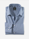 Olymp Navy Houndstooth Super Slim Shirt