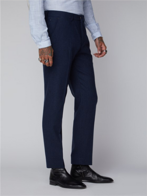 Gibson Dark Blue Puppytooth Trouser