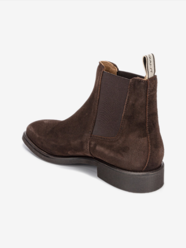 GANT Dark Brown Suede Chelsea Boots