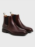 GANT James Brown Leather Chelesa Boot