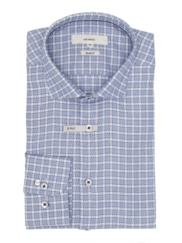 2BLIND2C Woven Check Fitted Shirt