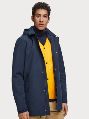 Scotch & Soda Steel Navy 2-in-1 Parka Jacket