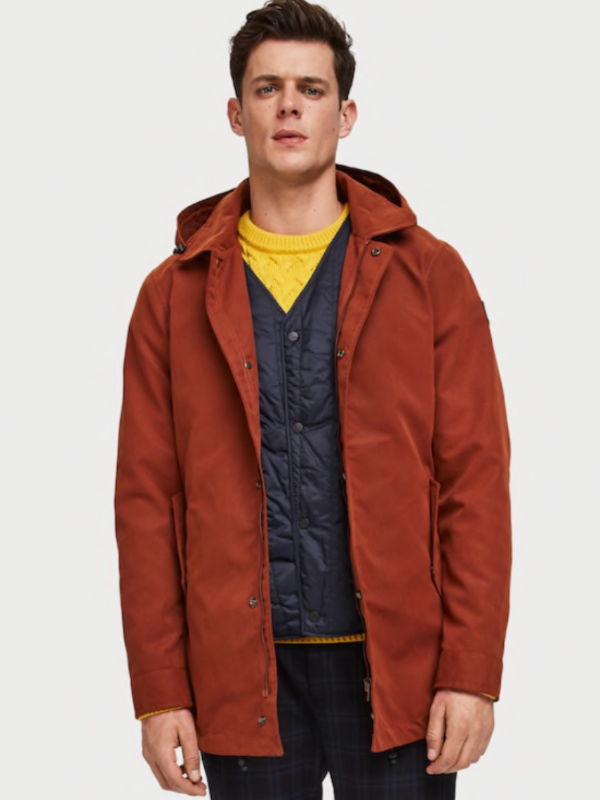Scotch & Soda 3-in-1 Copper Parka Jacket
