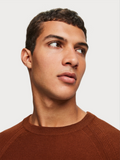 Scotch & Soda Wood Block Merino Wool Crewneck