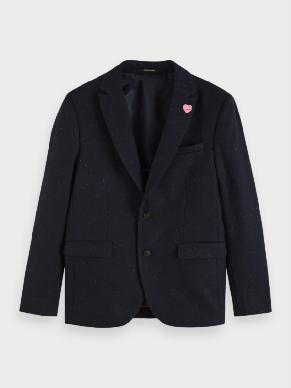 Scotch & Soda Dark Navy Nep Blazer