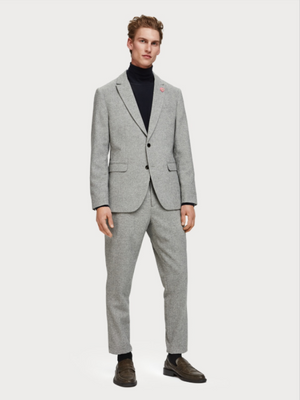 Scotch & Soda Light Grey Herringbone Blazer