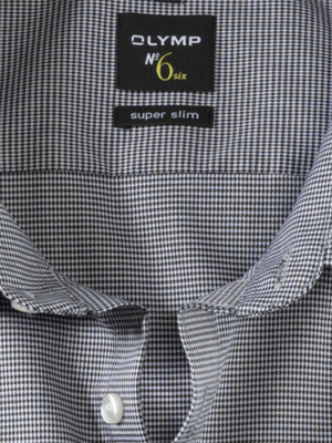Olymp Black Houndstooth Super Slim Shirt