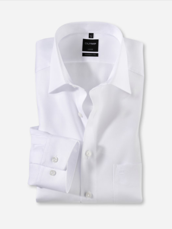 Olymp Modern Fit White Shirt
