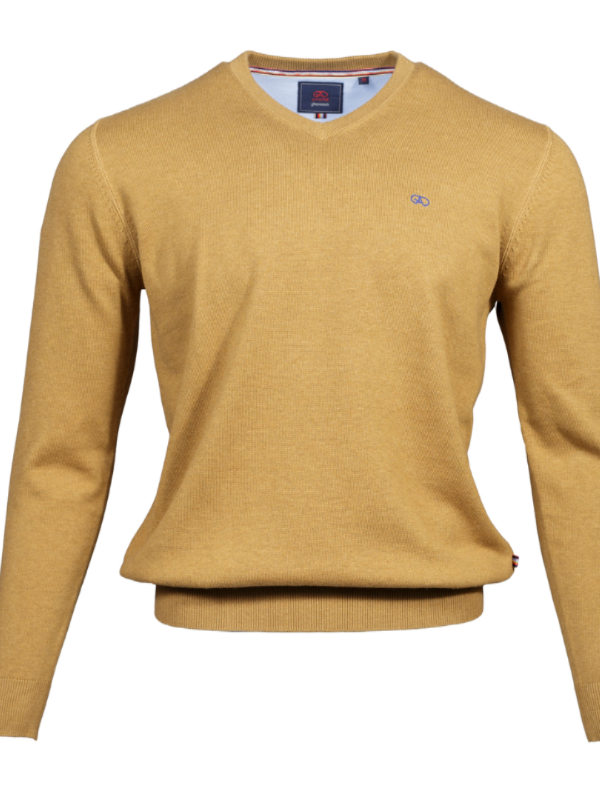 Andre Wheat Valencia V-Neck Jumper