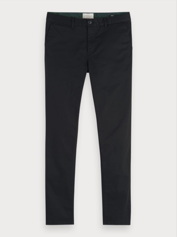 Scotch & Soda Mott Slim Fit Charcoal Chinos
