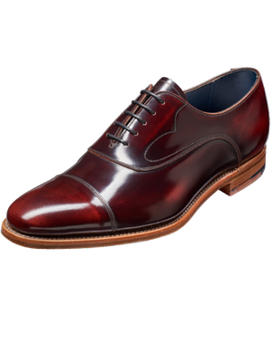 Barker Hartley Brandy Hi-Shine Leather Shoes