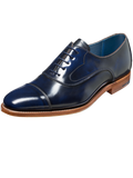 Barker Hartley Navy Hi-Shine Leather Shoes