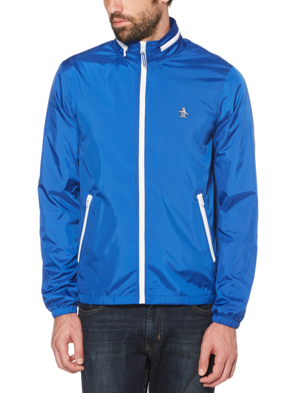 Original Penguin Blue Heritage Windbreaker Jacket