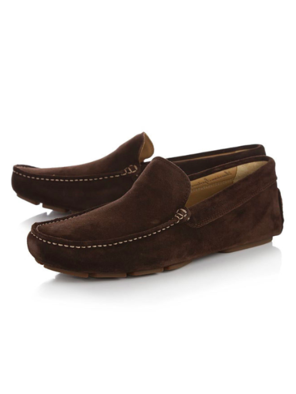 GANT Austin Dark Brown Suede Loafer