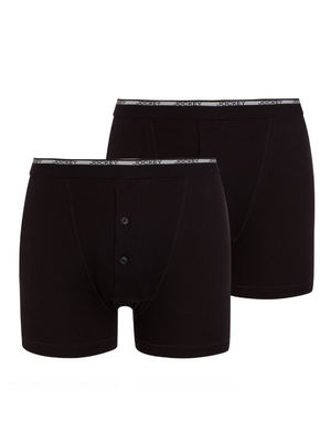 Jockey Classic 2 Pack Black Boxer Short