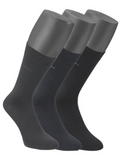 Jockey Black/Grey/Navy 3 Pack Sock