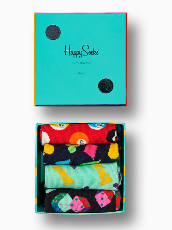 Happy Socks Four-Pack Game Night Socks
