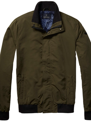 Scotch & Soda Khaki Green Harrington Jacket