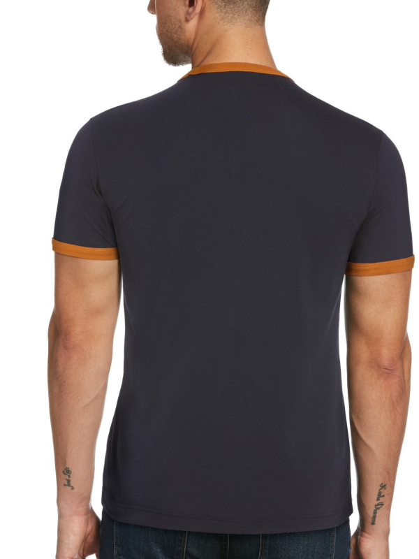 Original Penguin Navy Stamp Logo T-Shirt