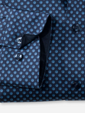 Olymp Modern Fit Navy Print Shirt