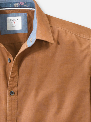 Olymp Taupe Cord Shirt