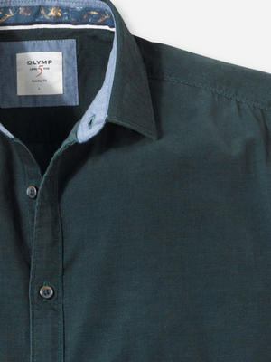 Olymp Green Cord Shirt