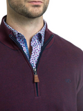Andre Clifden Burgundy 1/2 Zip Knit
