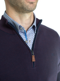 Andre Clifden Purple 1/2 Zip Knit