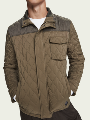 Scotch & Soda Military Quilted Jacket