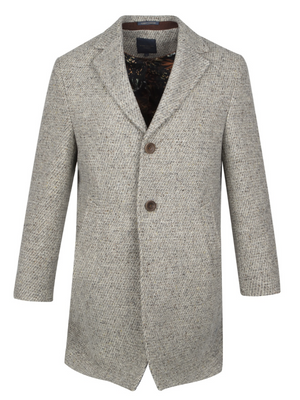 Guide London Oatmeal Grey Wool Coat