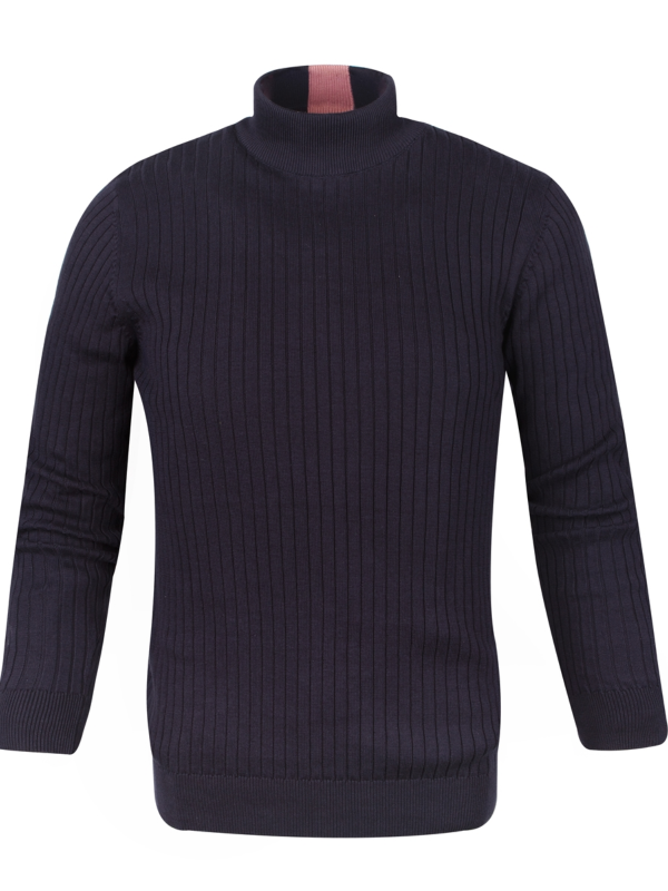 GUIDE LONDON Navy Turtle Neck