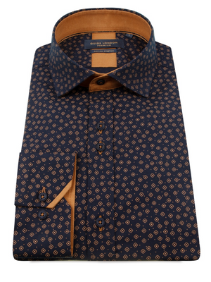 Guide London Navy Print Shirt