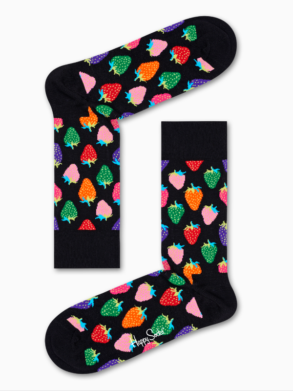 Happy Socks 2 Pack Strawberry Socks