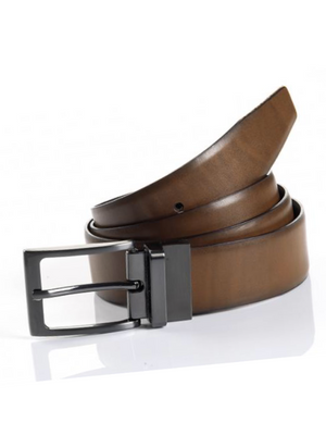 Monti Tan/Black Reversible Belt