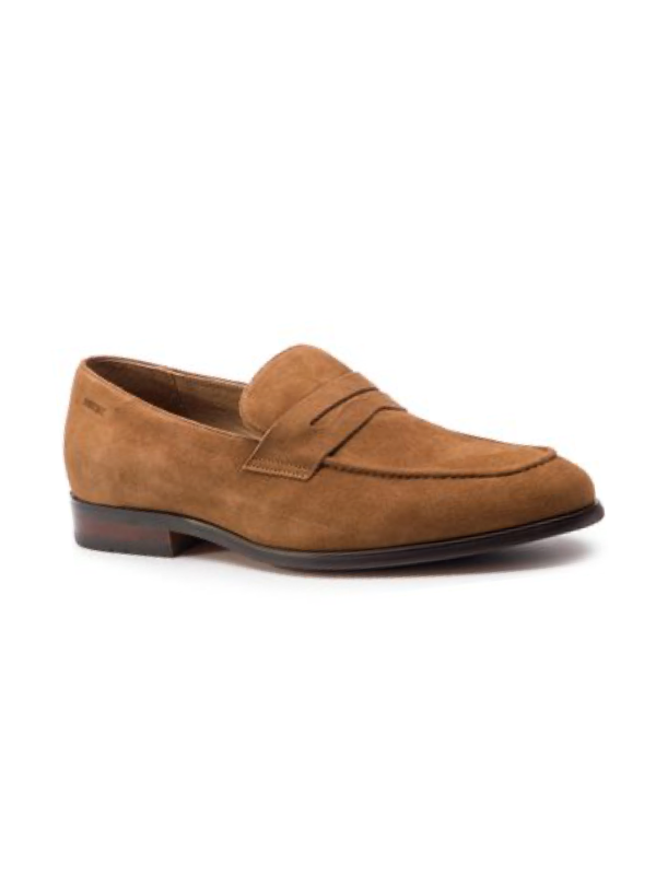 Digel Dark Tan Suede Shoes