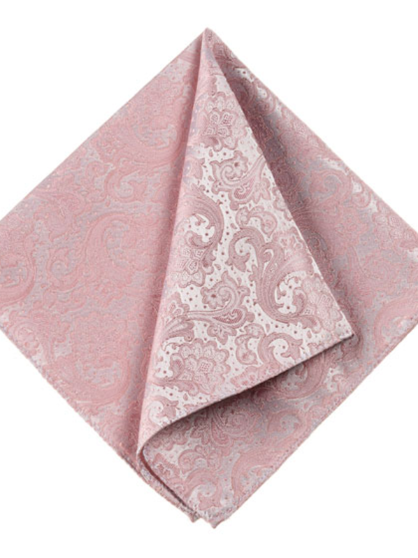 Monti Rose Paisley Silk Pocket Square