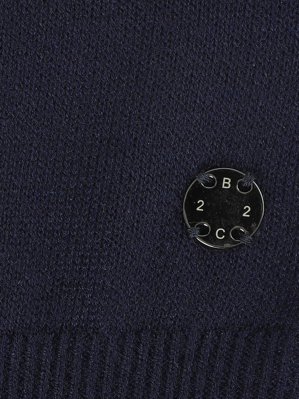 2BLIND2C Navy Crewneck Knitwear