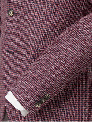 Gibson London Red Dogtooth Jacket & Waistcoat