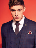 Gibson London Navy Check Suit