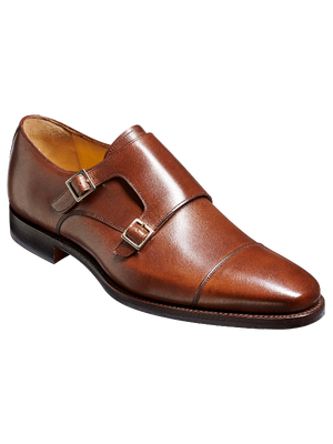 Barker Edison Walnut Calf Leather Shoes