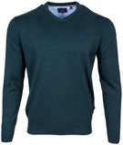 Andre Forest Green V-Neck Valencia Jumper