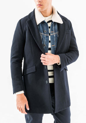 Antony Morato Navy Wool Coat