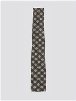 Gibson London Grey Gingham Tie