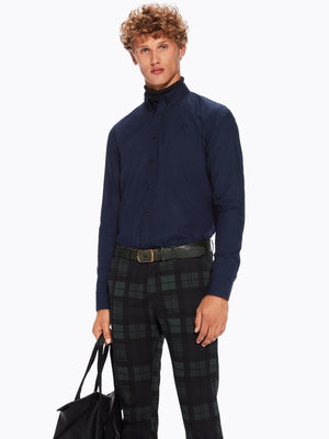 Scotch & Soda Navy Classic Poplin Shirt