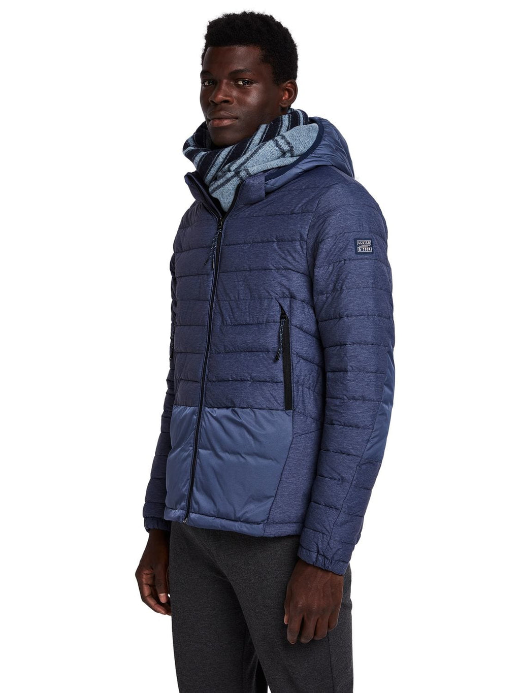 Scotch & Soda Blue Puffer Jacket