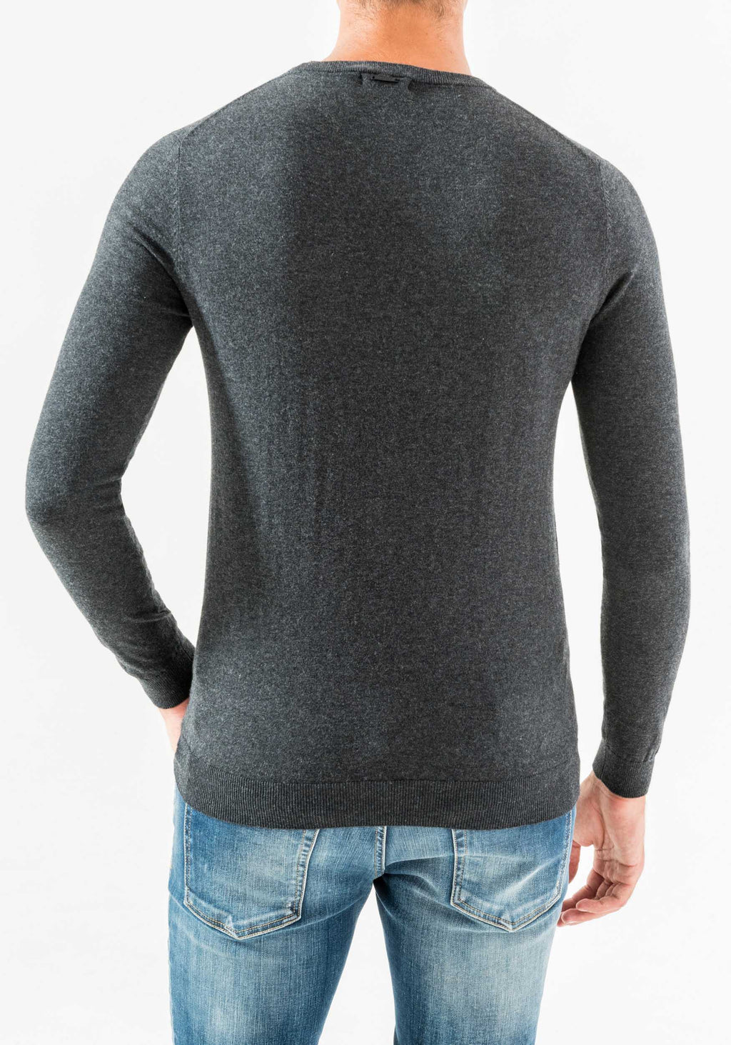 Antony Morato Crew Neck Sweater in Cotton & Cashmere