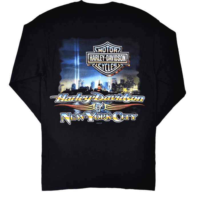 back-harley-davidson-nyc-beams-of-light-long-sleeve-tee