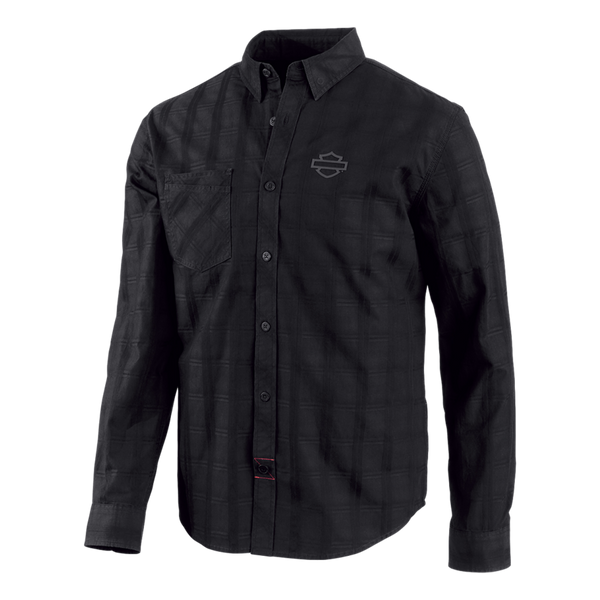 front-harley-davidson-genuine-mens-jacquard-plaid-slim-fit-shirt
