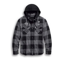 Men's Lined Hooded Shirt Jacket